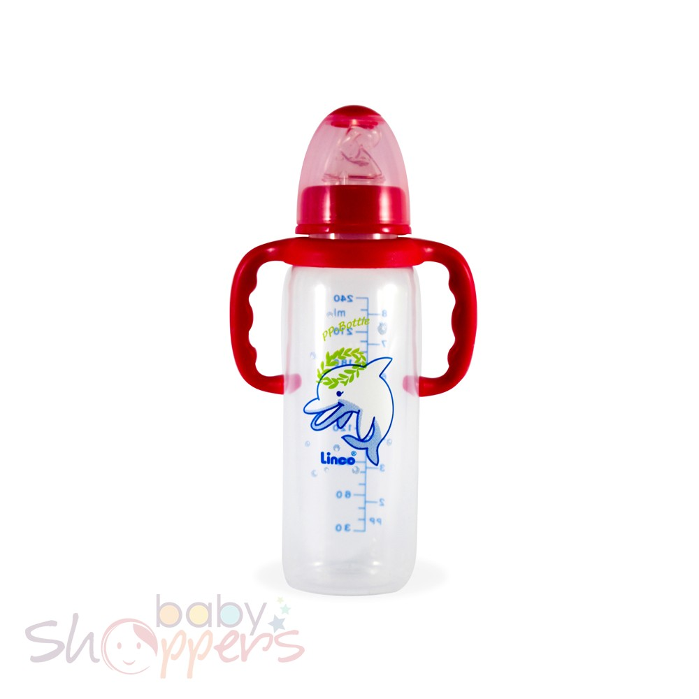 Standrad Feeding Bottle with Handle- 240 ml