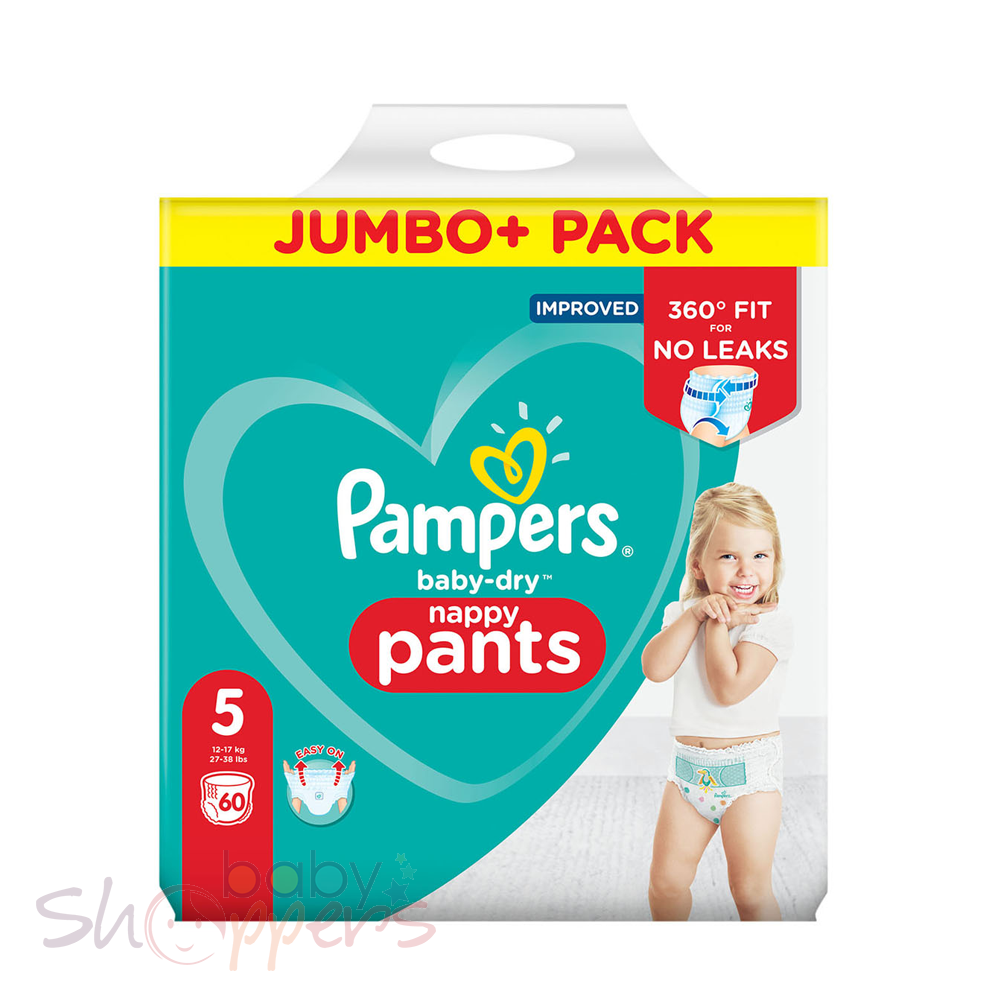 Pampers Baby-Dry Pants Size-5 (60 Nappies) Weight:12-17kg