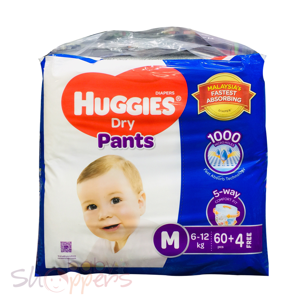 Huggies Dry Pants Medium 60 Pcs (6-12 Kg)