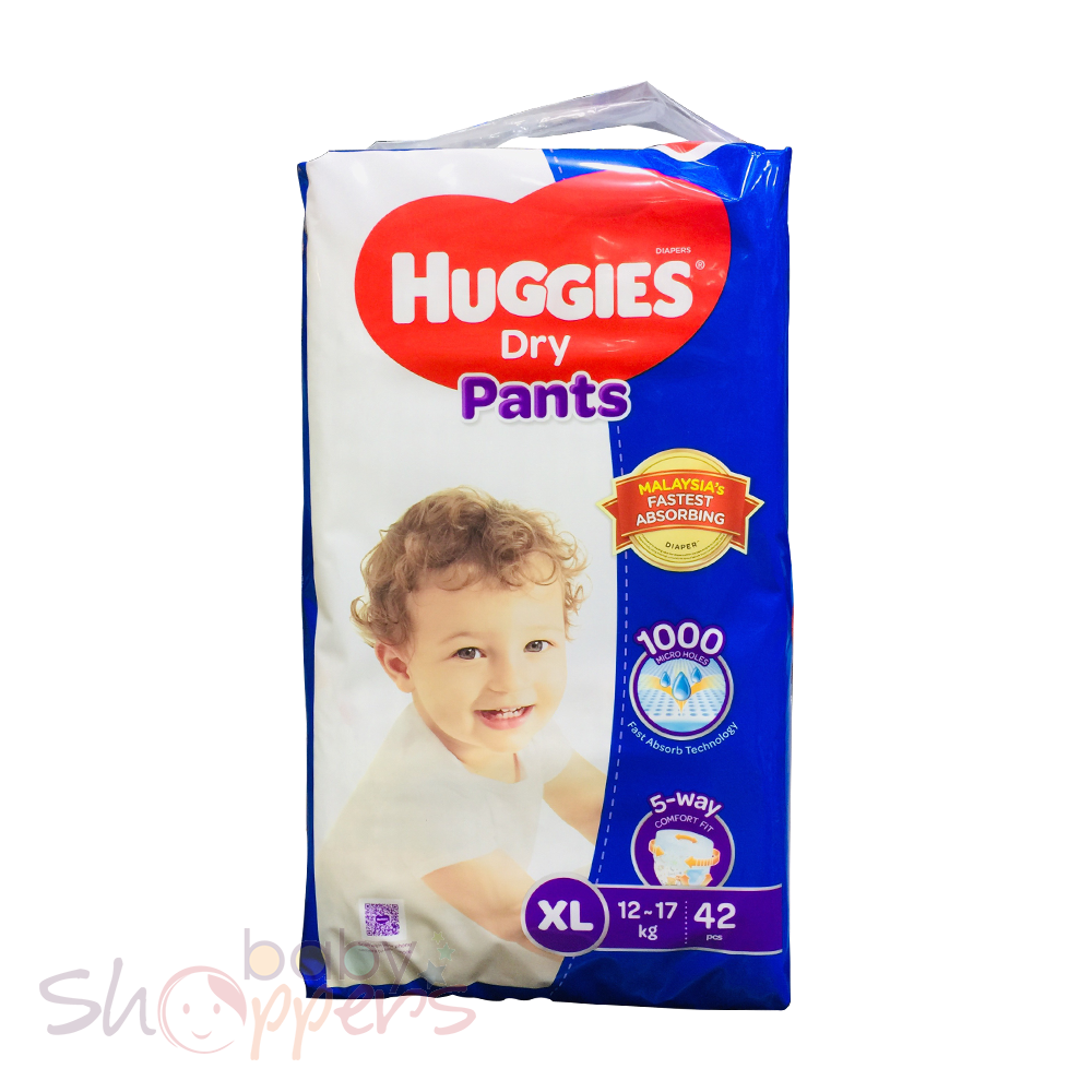 Huggies Dry Pants XL 42 Pcs (12-17 Kg)