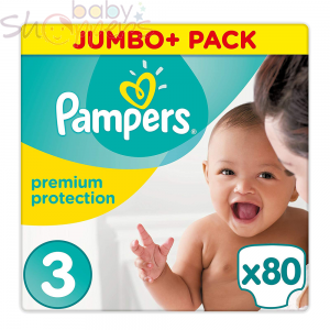Pampers Premium Protection Size 3 80 pcs (80 Nappies)
