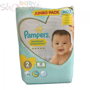 Pampers Premium Protection Size-2 (68 Nappies) Weight:4-8kg