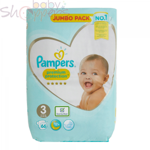 Pampers Premium Protection Size-3 (66 Nappies) Weight:6-10kg