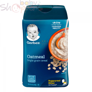 Gerber Oatmeal Single Grain Baby Cereal 227g
