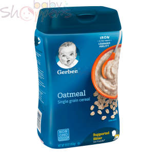 Gerber Oatmeal Single Grain Baby Cereal 454g