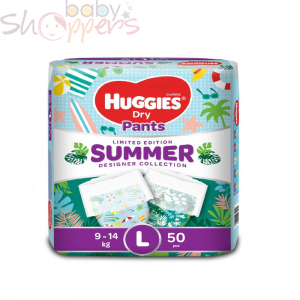Huggies Dry Pants Summer Limited Edition (9-14)kg L Size 50pcs