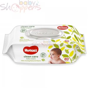 Huggies Clean Care Baby Wipes- 80Pcs