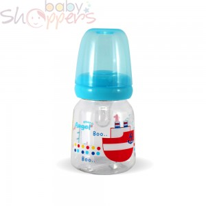 Decorative Round Shape Feeding Bottle-Blue-60 ml