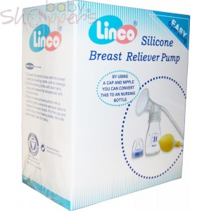 Linco Silicone Breast Reliver Pump with Bottle