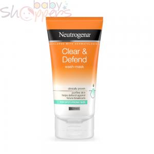 Neutrogena Clear & Defend Wash-Mask- 150ml
