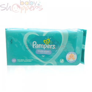 Pampers Fresh Clean Baby Wipes-52pcs