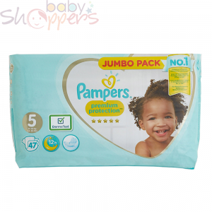 Pampers Premium Protection Size-5 (47 Nappies)