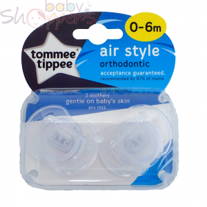 Tommee Tippee Air Style Soother Twin Pack (0-6m)