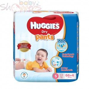 Huggies Dry Pants Small 66+4 Pcs (4-8Kg)