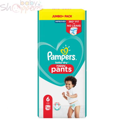 Pampers Baby-Dry Pants Size-6 (52 Nappies) Weight: 15+kg