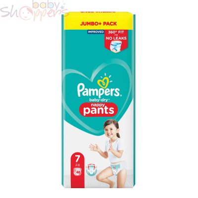 Pampers Baby-Dry Pants Size-7 (48 Nappies) Weight: 17+kg