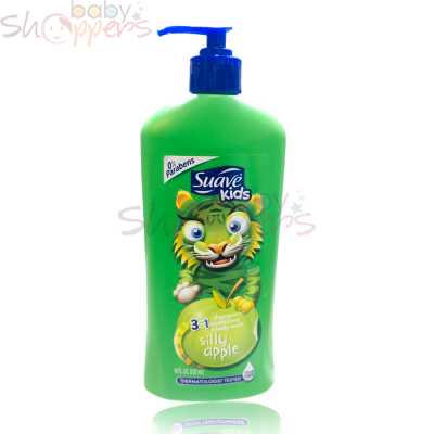 Suave Kids 3 in 1 Shampoo-Conditioner-Body Wash Silly Apple