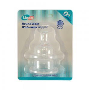 Linco Round Hole Wide Neck Nipple